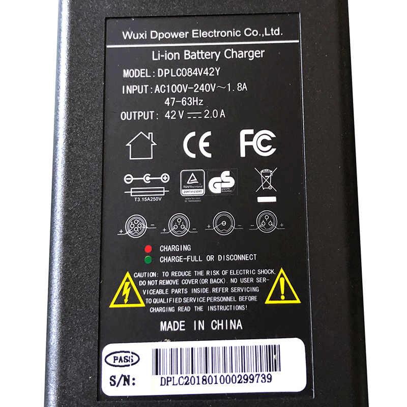 Pin Li-ion Sạc 42 V 54.6 V 2A mạnh mẽ Ebike Lithium Pin 36 V 48 V 100-240 V Sạc Pin Xe Điện Xe Đạp