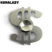 Finger Spinner Clover Finger crack Money Style fidget spinner metal anti stress stainless steel bearing metal