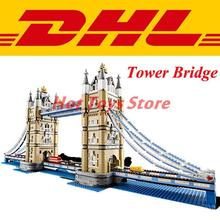 LEPIN 17004 4295Pcs Creator Expert London Tower Bridge Model Building Kits Minifigure Blocks Bricks Compatible Toys Gift 10214