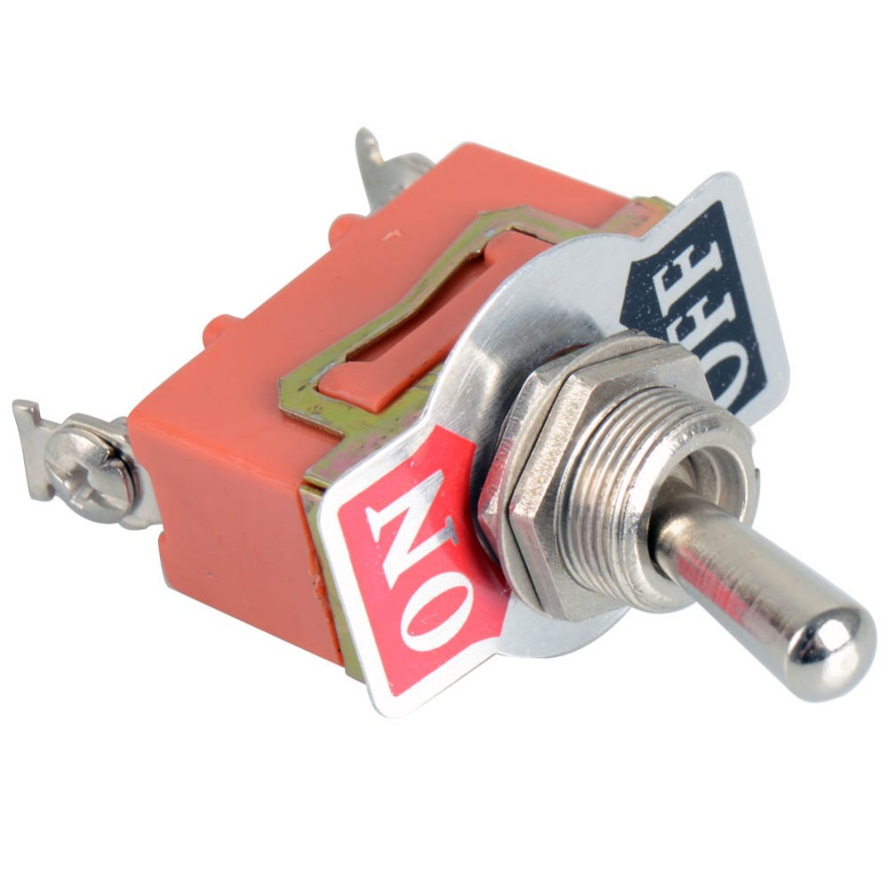 1 Piece New 12V Heavy Duty Toggle Flick Switch ON/OFF Car Dash Light Metal SPST VE063 P0.4 5 x on off small toggle switch miniature spst 6mm ac250v 3a 120v 5a