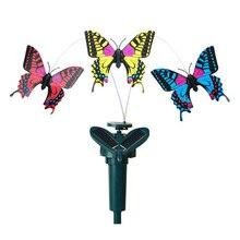 Искусственные бабочки солнечной энергии дома бабочка с крыльями сад патио светильники для дорожки украшение для цветочной вазы