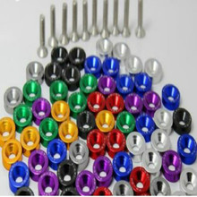 купить colour engine screw modified screw M6 Motorcycle Car license plate Nuts & Bolts red black green silver yellow purple blue дешево