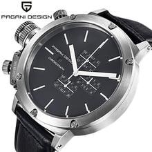 2016 Relogio masculino Relojes Hombres Lujo de la Marca Pagani Moda hombre Reloj Deportivo Multifuncional Reloj de Cuarzo de Cuero Genuino