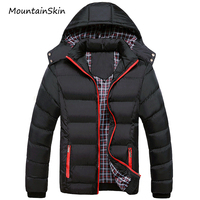 Mountainskin 5XL Men Winter Jacket Warm Male Coats Fashion Thick Thermal Men Parkas Casual Down Cotten