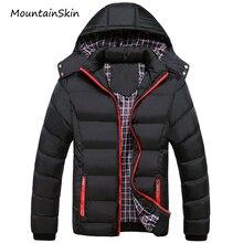 Mountainskin 5XL 2017 Männer Winterjacke Warme Männliche Mäntel Mode Dicke Thermische Männer Parkas Casual Männer Markenkleidung LA140