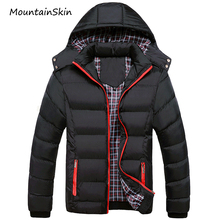 Mountainskin 5XL Winter Jacket Warm Male Coats Thick Thermal Parkas Casual Men