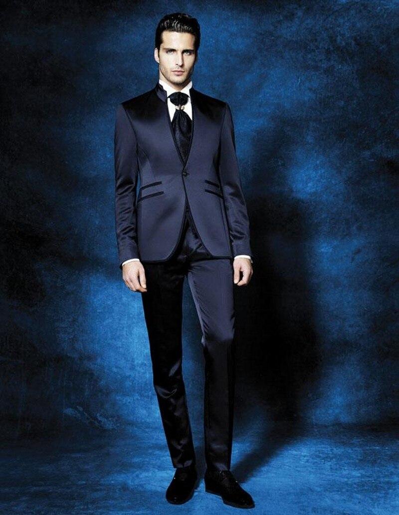 49be3da8c664 Nuovo Matrimonio Dello Blue B999 Uomo Same Risvolto Sposo Image Made  Groomsmen Best Pantaloni Arrivo Mandarin ...