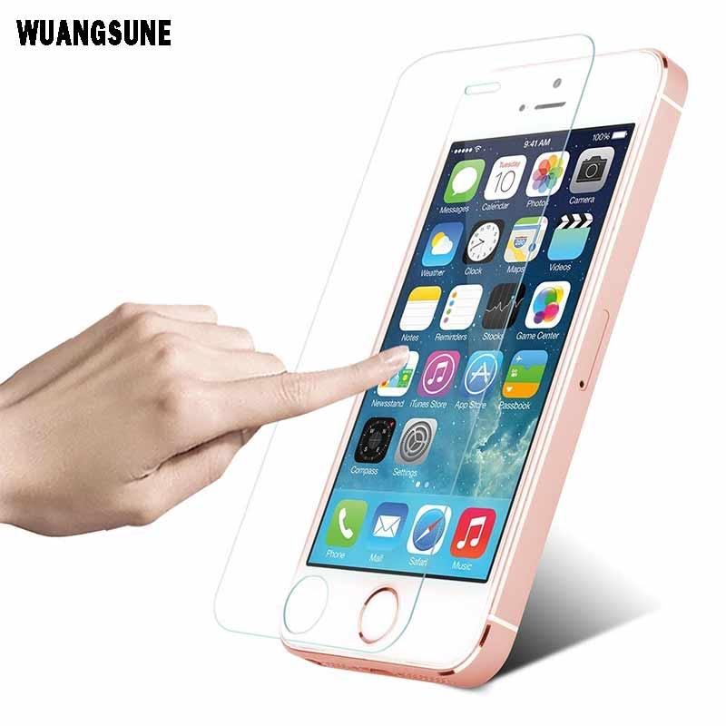 c70f8b3c63c 9 h 0.3mm 2.5d arco de vidrio templado protector de pantalla para iPhone 5  5S 5C se protectora resistente a la explosión películas para iPhone 5S