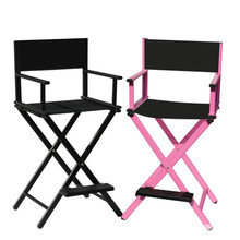hot deal buy aluminum frame makeup artist chair black/pink color outdoor furniture lightweight portable folding director camping makeup chair