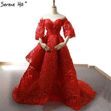 SERENE HILL Long Turkish Off Shoulder Arabic Red Dresses