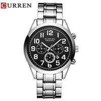 High Quality Men Fashion Casual Calendar Japanese Movement Steel Waterproof Sport Curren 8050 Watch