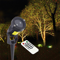 Outdoor LED Laser Projector Light Lawn Lamp Remote Control Red Green Lawn Decoration Lamp For Christmas