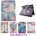Dandelion Tablet PC Flip Leather Case for Apple iPad 2 3 4 Shockproof Anti-Dust Drop Resistance Cover Shell Protective Skin Bag