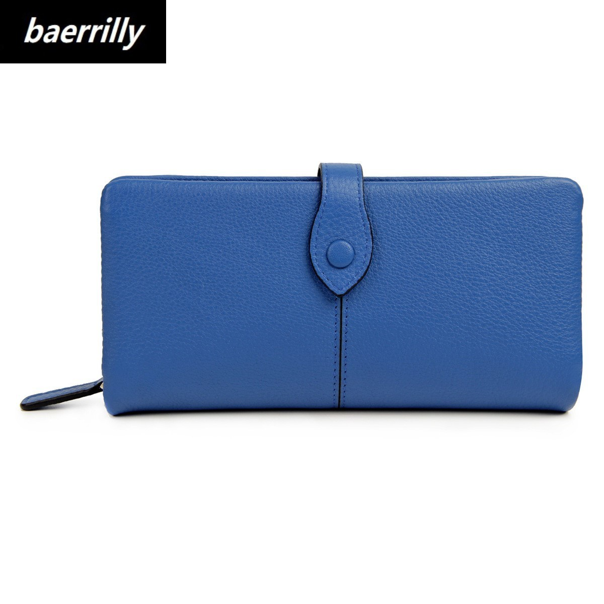 Fashion Solid Genuine Leather Women Wallet Coin Pocket Credit ID Card Holder Female Purse Money Bag Cell Phone Pocket Day clutch dispalang cool animal pattern zipper coin purse for cell phone credit card money key wolf print coin wallet bag mini women bags