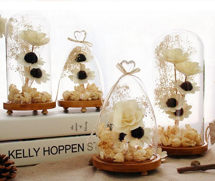 6 Size Glas Droge Bloem Liefde Hartvorm Ornamenten Woondecoratie - Feestversiering en feestartikelen - Foto 1
