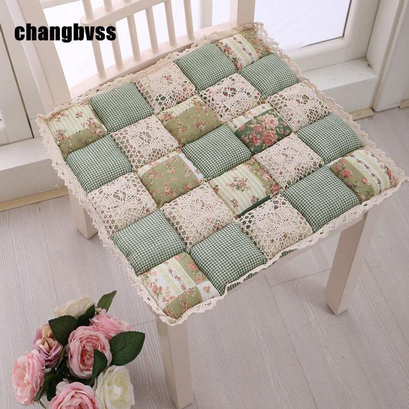 Pastoral Joint 42x42cm Chair Cushion Mat,14 Colors House Seat Cushion Pad,1Pcs Home Decor Floor Cushion ,almofada Decorativa
