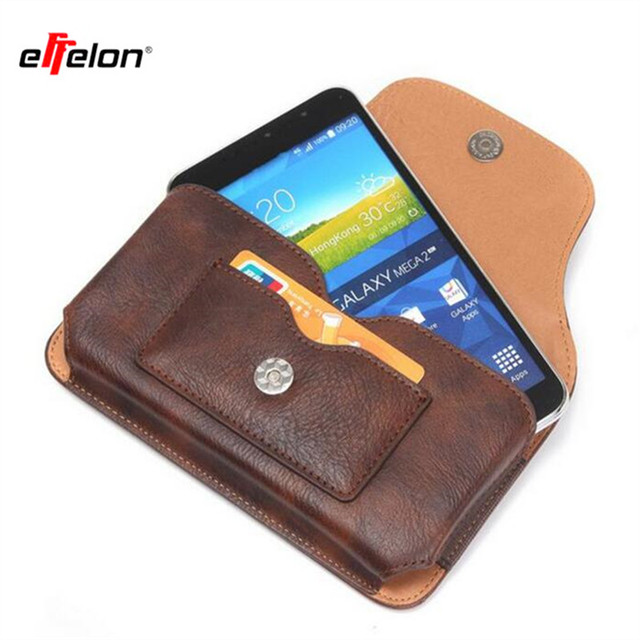 Effelon PU Leather Case Belt Clip For iPhone7 6S 5 4 Samsung Galaxy S6 S5 S4 S8 Note 4 3 2 meizu mx4 Lenovo s850 Phone Cases