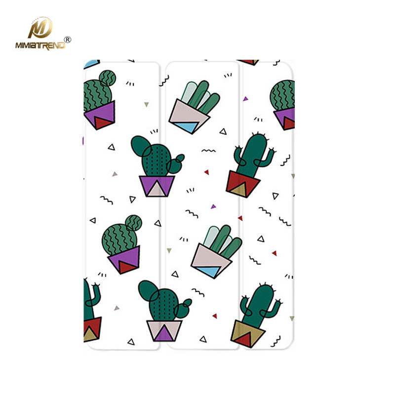 Mimiatrend Cactus Painted Flip Cover For iPad Pro 9.7 Air Air2 Mini 1 2 3 4 Tablet Case Protective Shell for 2017 New iPad 9.7 for new ipad 9 7 2017 visual acuity chart flip cover for ipad pro 9 7 10 5 air air2 mini 1 2 3 4 tablet case protective shell