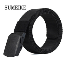 Automatic Buckle Nylon Belt Male Army Tactical Belt Mens Military Waist Canvas Belts Cummerbunds High Quality Strap