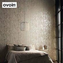 Blanc, brun abstrait métallique gaufré plaine 3D papier peint texturé papier peint épais de luxe pour chambre salon décor à la maison
