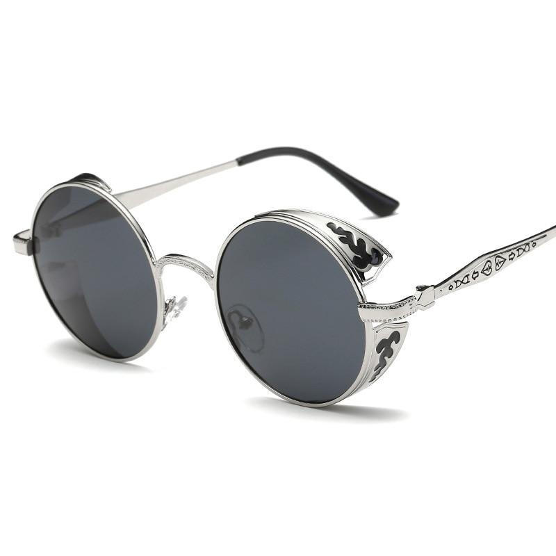 Metal Frame Vintage Round Sunglasses Men Polarized Lunettes Rondes Unisex Steampunk Goggles Zonnebril Mannen Shades for Women 1