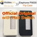 Elephone p9000 case 100% oficial original flip case con hall interruptor de la Cubierta Posterior para Elephone P9000 Smartphone 2 Colores en stock