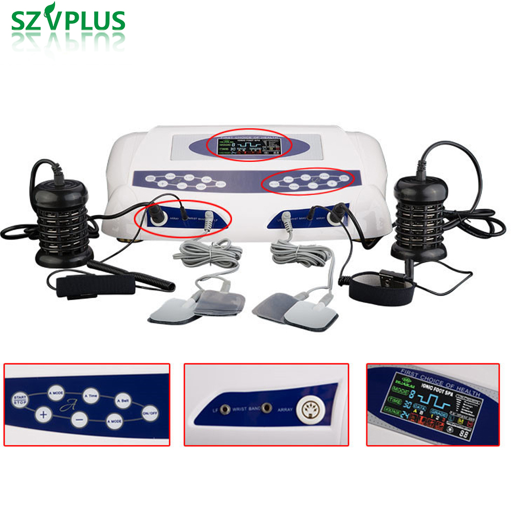 Foot Spa Machine Ion Cleanse Detox Machine Foot Bath Ionic Foot Machine Detox Spa Foot massager for blood cleaning cell detox hot dual detox foot spa machine ionic foot detox bath spa dual ion cleanse high quality high gurantee 8pcs lot wholesale