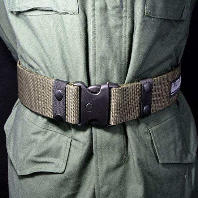 2018 New Adjustable Men's Heavy-Duty Combat Belt Army Military Tactical Belt