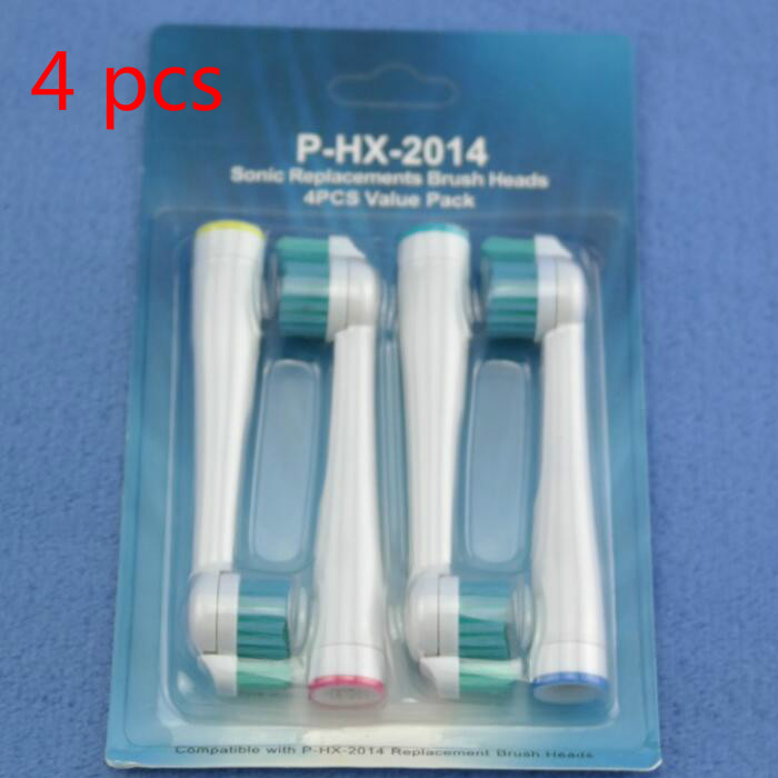 4pcs/lot HX2014 Replacement Toothbrush Heads for Philips Sonicare ProResults HX1620/HX1630/HX1610 image