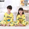 Famli 4Y-12Y Crianças Fleece Inverno Pijamas Crianças Menino Asseclas Quentes Trajes Pijama de Flanela Grossa Meninas Moda Princesa Sleepwear