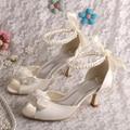 Wedopus New 2015 Camelia Flower Wedding Sandals Women Mid Heel Custom Handmade