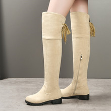 Ingrosso suede beige thigh high boots Acquista Lotti suede