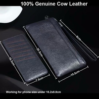 Genuine Cow Leather Hand Strap Mobile Phone Pouch Case Bags For Galaxy Note9/S9/S9 Plus/S8/S8 Plus/Note8/A6+(2018)/A6(2018)/J7