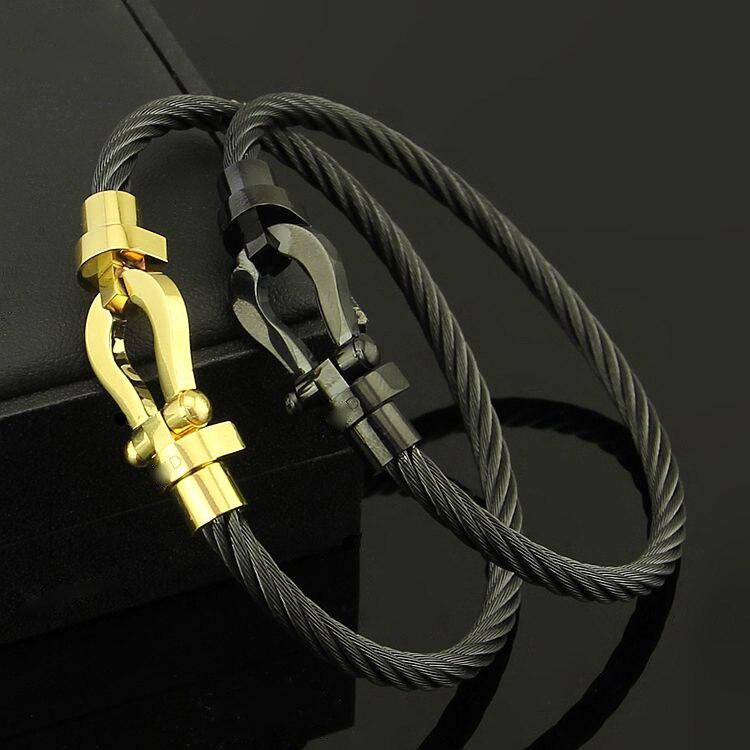 vente chaude en ligne 62b36 f6592 Stainless Steel Cord screw Bracelet Anil Arjandas U shaped ...