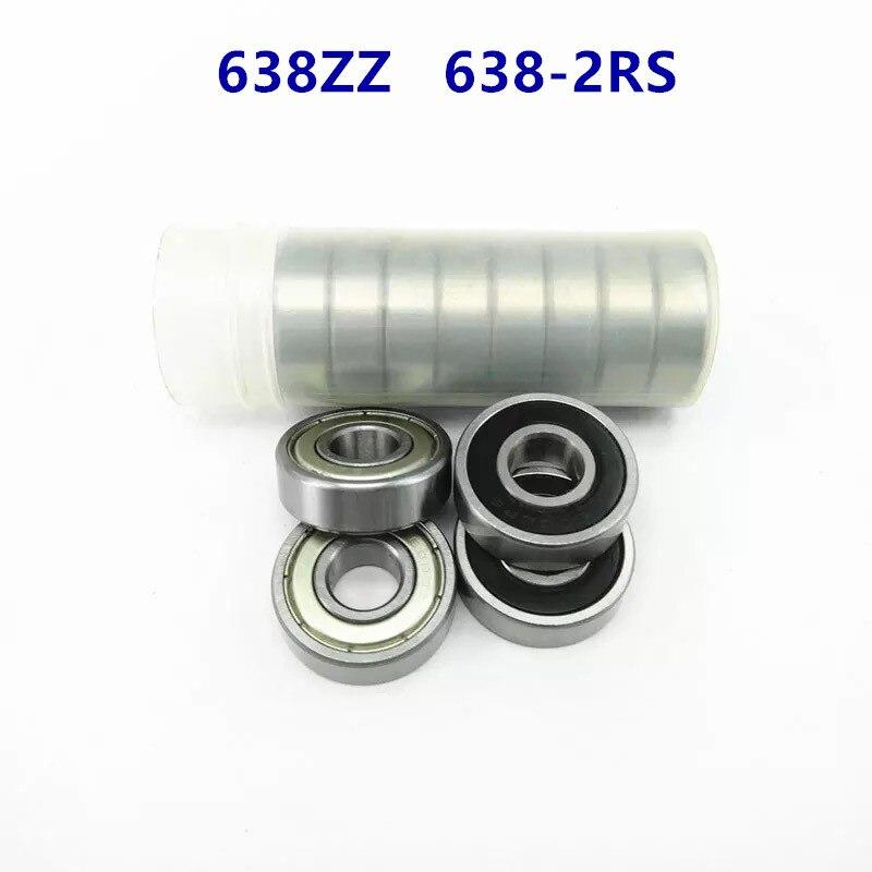 50pcs/lot  638ZZ 638-2RS shielded deep groove ball bearing 638 638Z 638RS 8*28*9 miniature steel ball bearings 8x28x9 mm