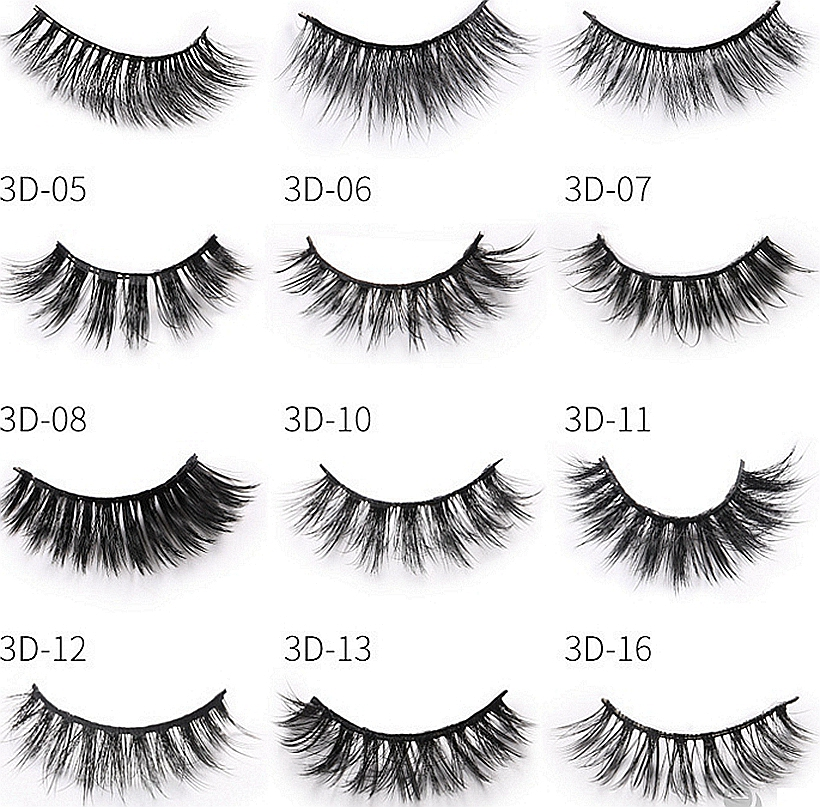 Image 2 - CLOTHOBEAUTY Mink Eyelashes 3d Mink Hair Lashes Volume Natural Long Thick Wispy Handmade 1Pair Eyelashes Extension for Makeup 3D-in False Eyelashes from Beauty & Health