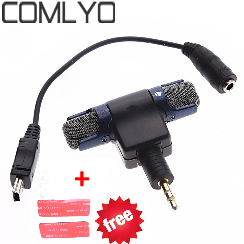 comlyo external stereo mic microphone with to mini usb micro adapter cable for gopro hero. Black Bedroom Furniture Sets. Home Design Ideas