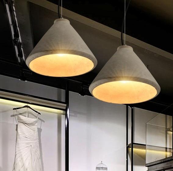 Nordic Loft Style Industrial Cement Droplight LED Vintage
