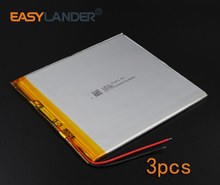 3pcs/Lot 3.7V 4600mAh Rechargeable li Polymer Li-ion Battery For  Bluetooth Notebook Tablet PC electronics safety lamp 30100140