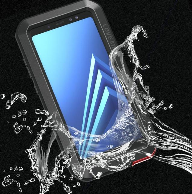 check out 7d30c c0629 US $28.0 |LOVE MEI Metal Aluminum Case For Samsung Galaxy A8/A8 Plus 2018  Heavy Duty Armor Outdoor Shockproof Waterproof Powerful For A8+-in Fitted  ...