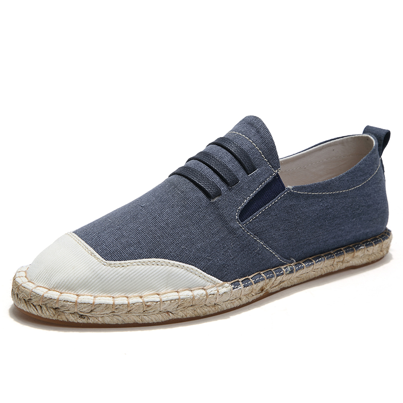 LAOCHRA نام تجاری Male Canvas Espadrilles 2018 Sider Side - کفش مردانه
