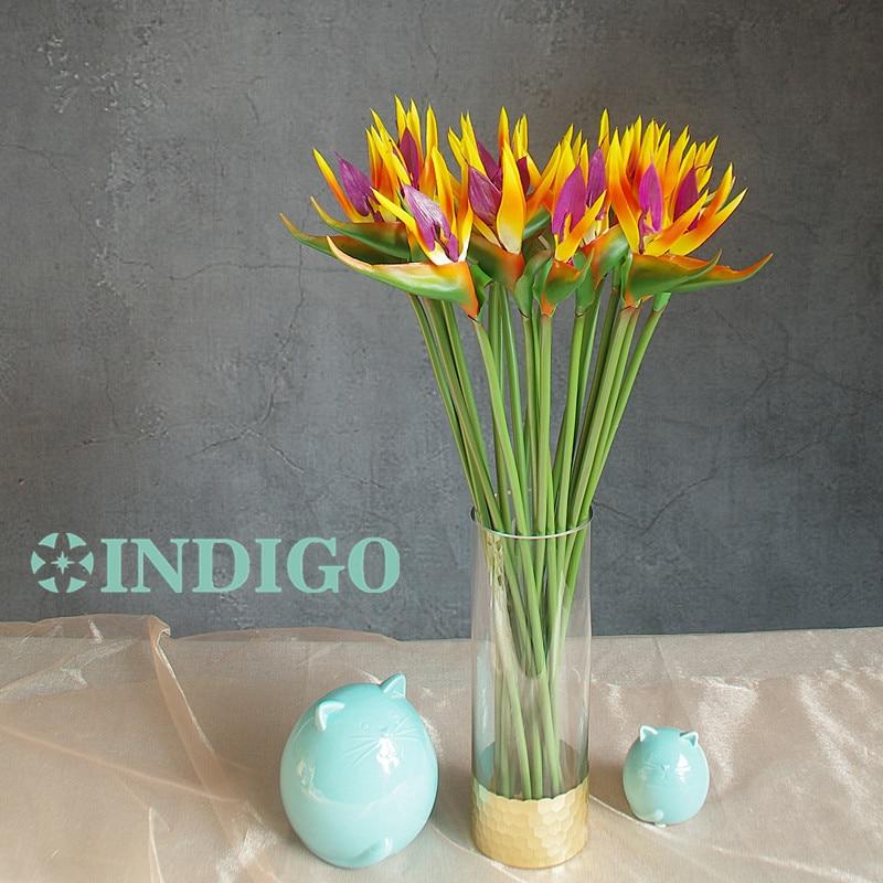INDIGO- 5 pcs Coucher Du Soleil Oiseau De Paradis Orchidée Bouquet - Pour les vacances et les fêtes - Photo 2