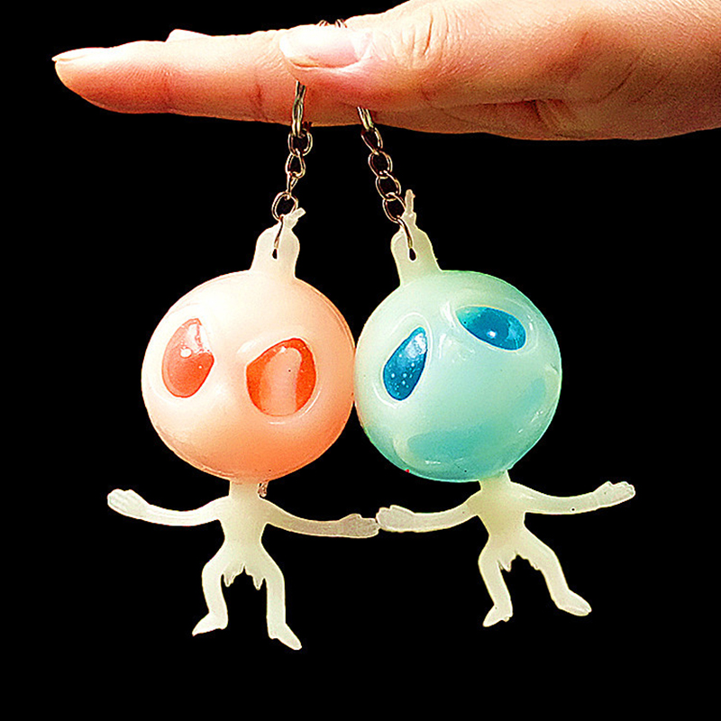 Squeeze Toys Stress Fluorescent Alien Soft Halloween Decoration Horror Shock Toys Cheap Novelty Cool Gadgets Rubber Toys in Gags Practical Jokes from Toys Hobbies