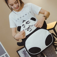 Ума Мода Sportful Новинка Runaway Выражение Панда/Jacky Cheung Пакет Забавный 3D Топ-Холст Школа Печатных Мешок D070