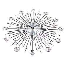 Vintage Metal Art Wall Clock Luxury Diamond Large Wall Watch Orologio Da Parete Clock Morden Design Home Decor Wandklok