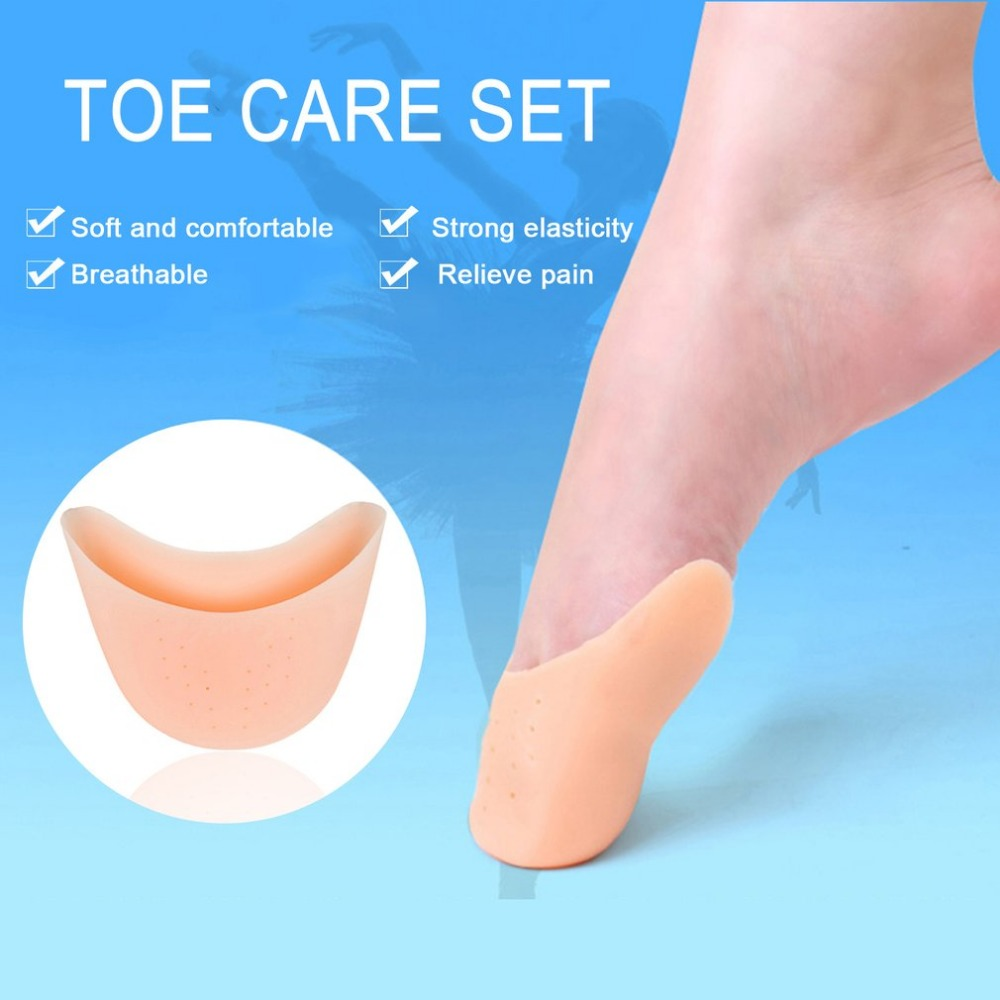Drop Shipping 1 Pair Silicone Gel Toe Caps Soft solid color light Shoe Pads Breathable Universal Pads For Girls Women Foot Care 5 pairs slica gel silicone shoe pad insoles women s high heel cushion protect comfy feet palm care pads accessories