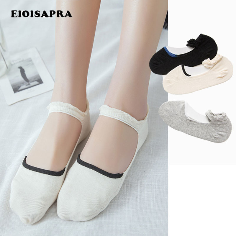 [EIOISAPRA]1 Pair Anti Slip Breathable Ballet Women Socks Comfort Ankel Stealth Cotton S ...