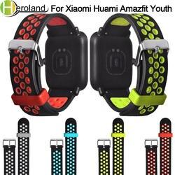 Браслет Силиконовый 20 мм ремешок для часов Huami Amazfit Bip Молодежный ремешок для часов Замена для Xiaomi Huami Bip бит темп Lite молодежное запястье