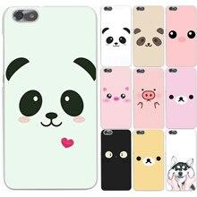 Милые животные панда свинья улыбка смайлики hard case прозрачная крышка для huawei p6 7 p8 p9 p10 lite плюс honor 8 lite 4c 4x G7