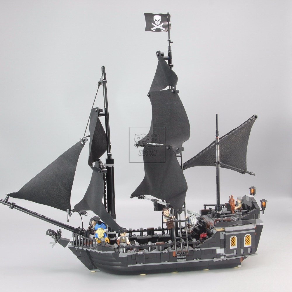804Pcs LEPIN 16006 Pirates Of The Caribbean The Black Pearl Ship Model Building Kit Blocks BricksToy Compatible legoed 4184 lepin 22001 pirate ship imperial warships model building block briks toys gift 1717pcs compatible legoed 10210